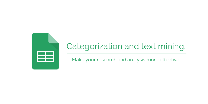 document classification in Google Sheets
