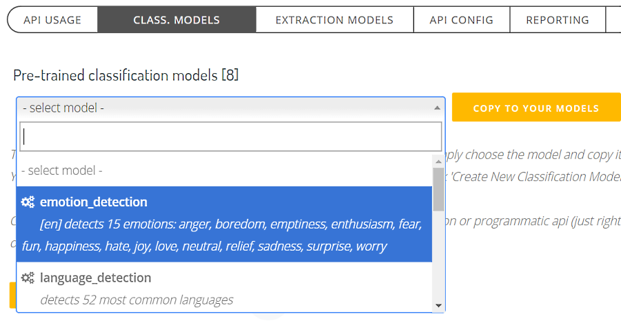 setting up emotions detection model